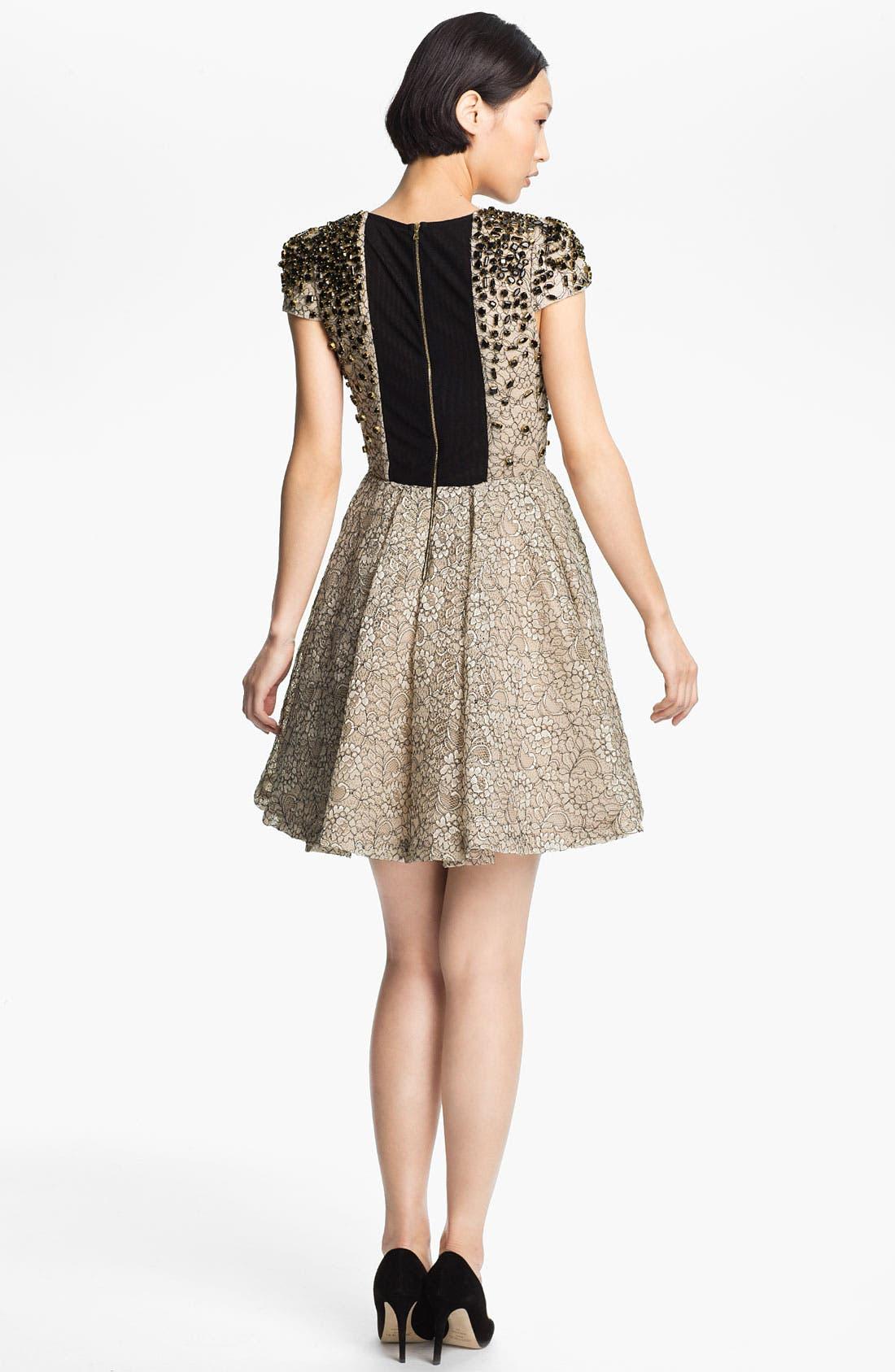 Alternate Image 2  - Alice + Olivia 'Aubree' Embellished Dress