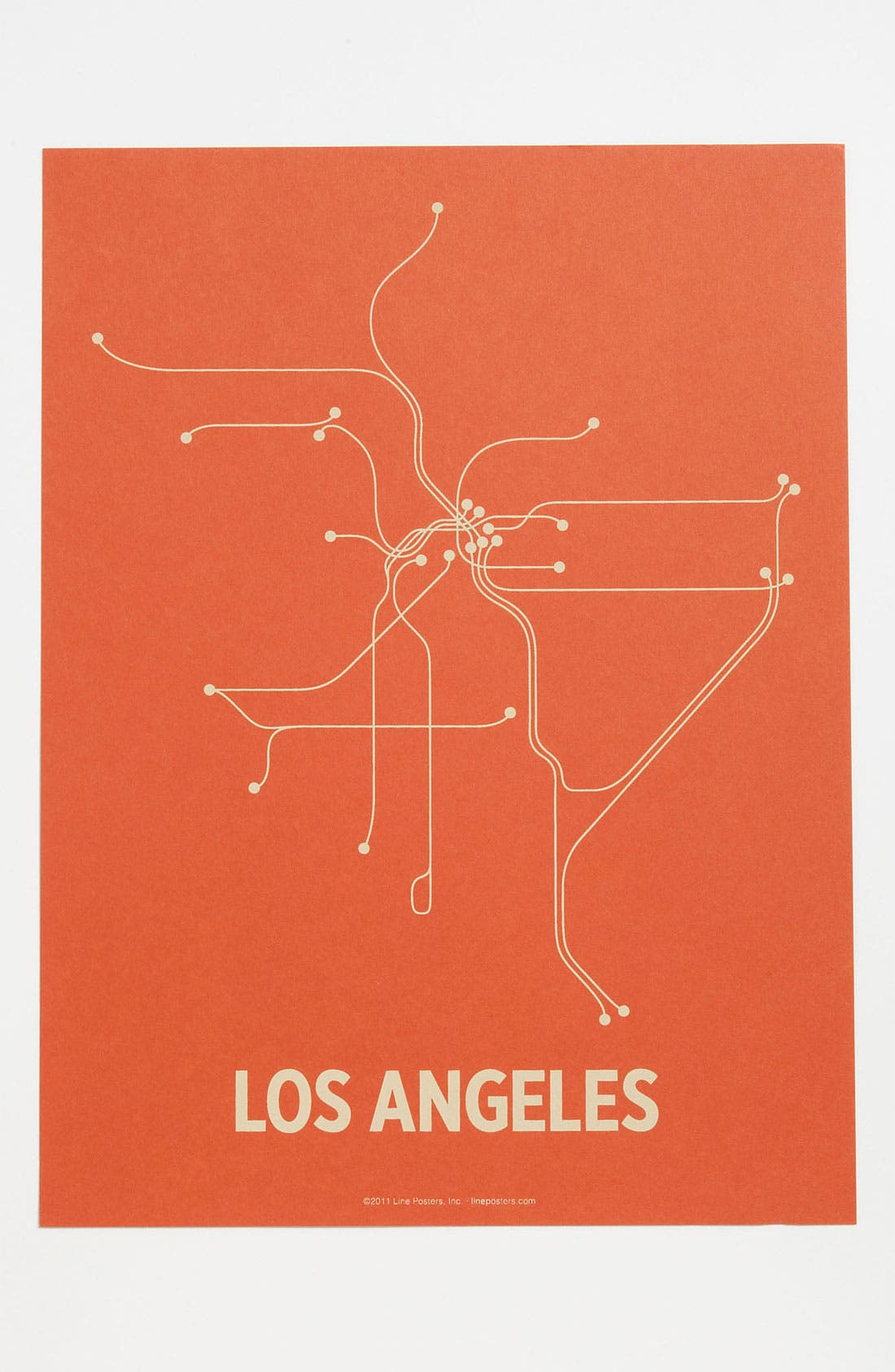Alternate Image 1 Selected - Line Posters 'Los Angeles Transit System - Small' Print