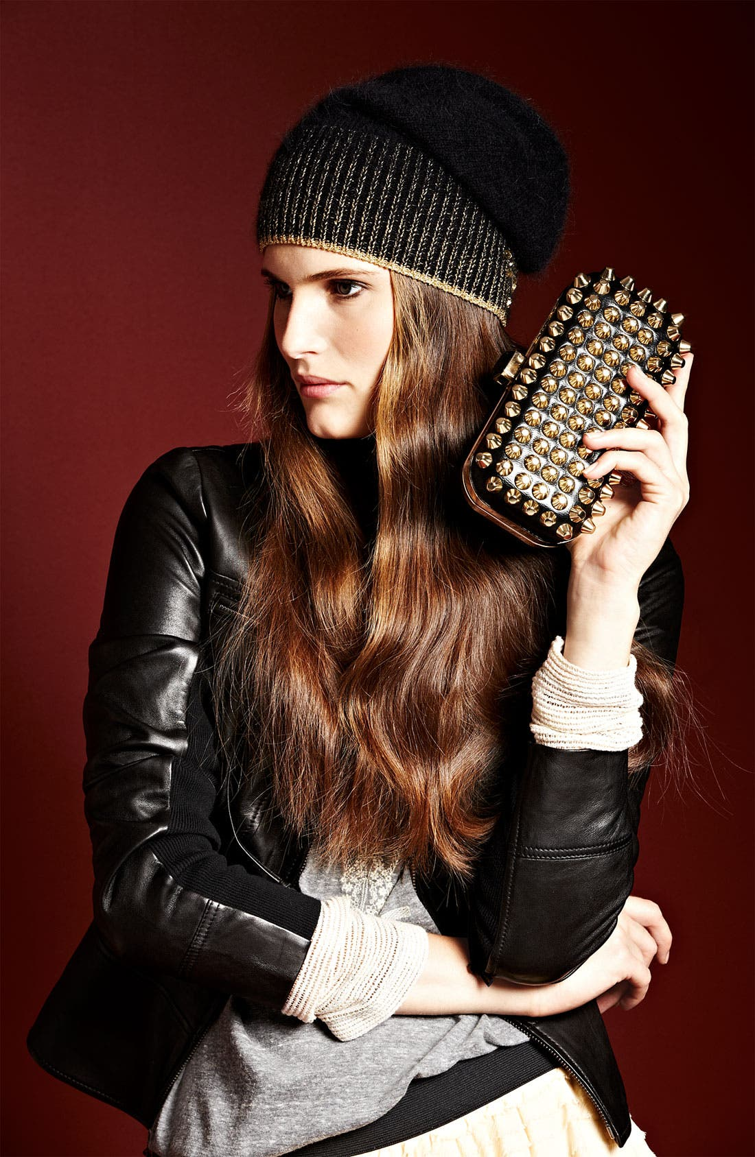 Alternate Image 5  - Natasha Couture Studded Clutch