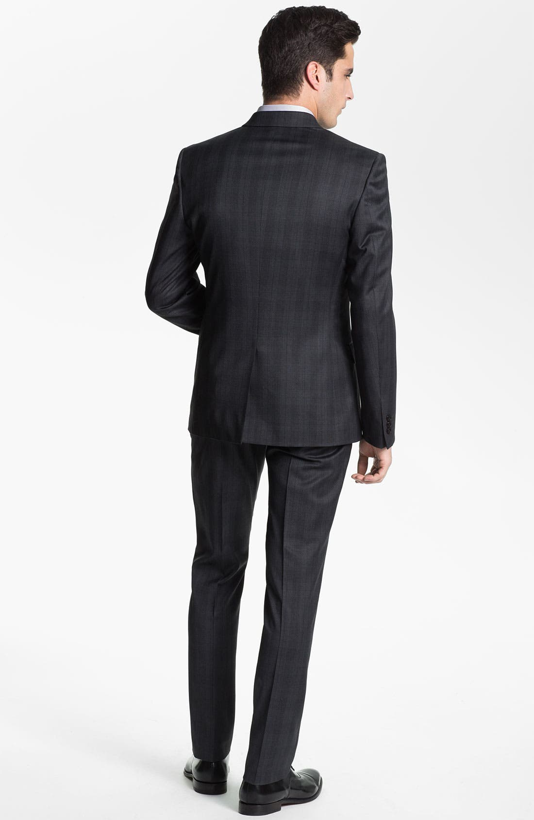 Alternate Image 3  - Versace Double Breasted Plaid Suit