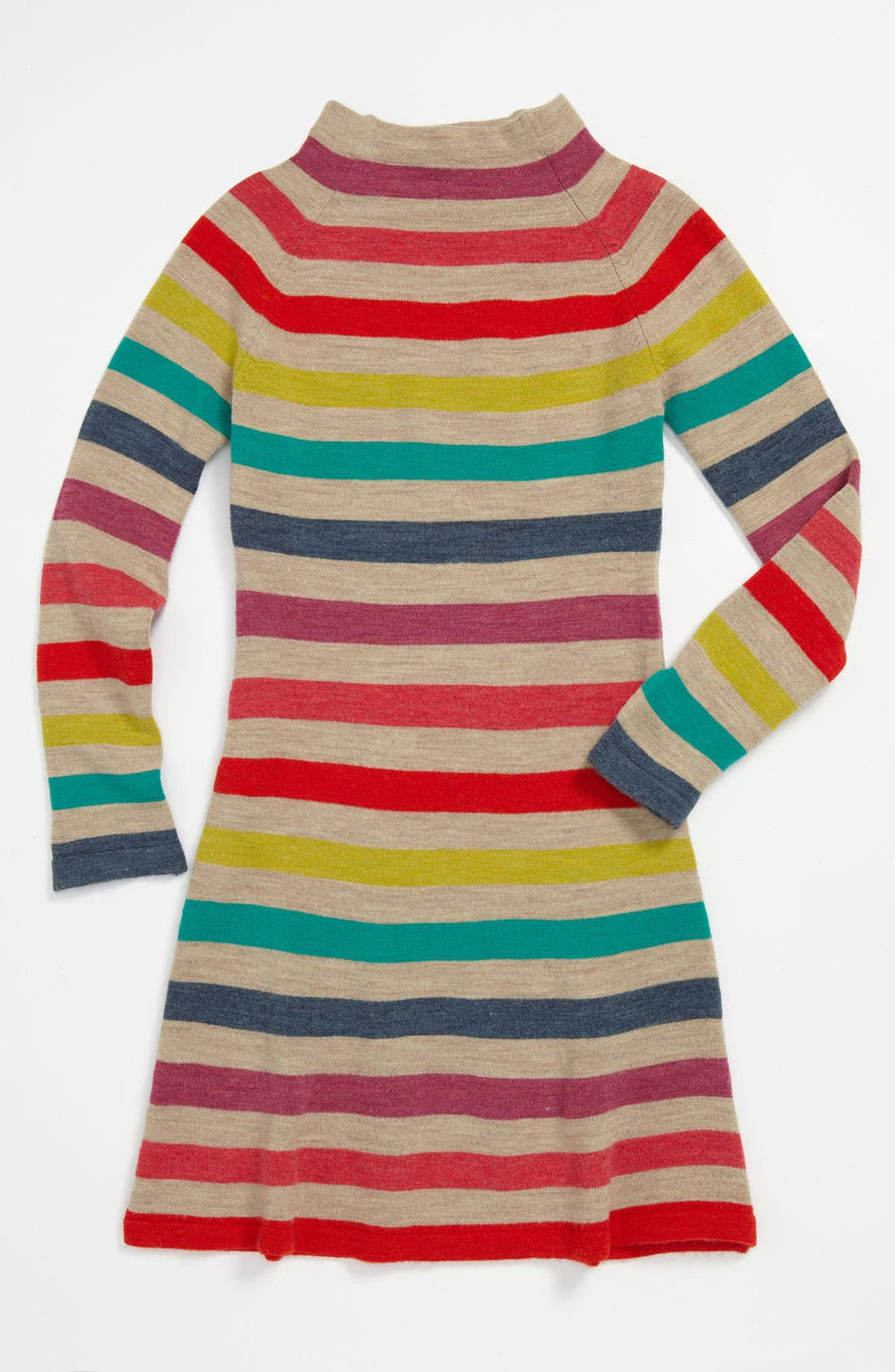 Alternate Image 1 Selected - United Colors of Benetton Kids Stripe Sweater Dress (Little Girls & Big Girls)