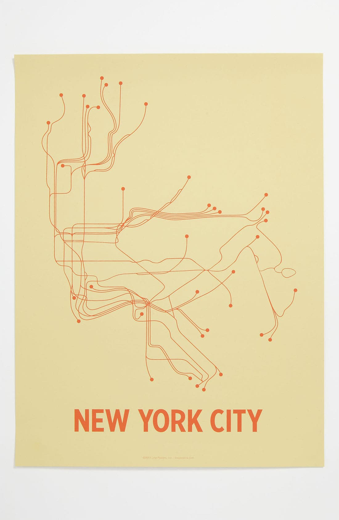 Alternate Image 1 Selected - Line Posters 'New York City Transit System' Print