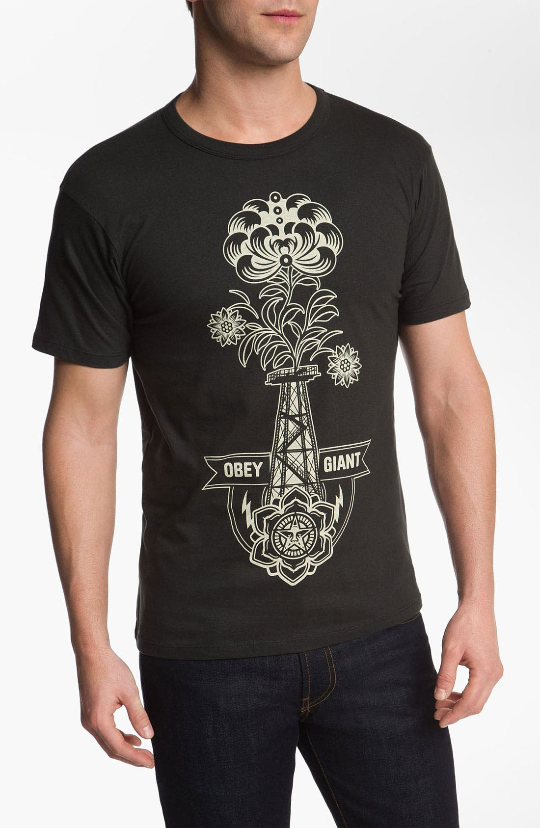 Main Image - Obey 'Oil Rig' Graphic T-Shirt