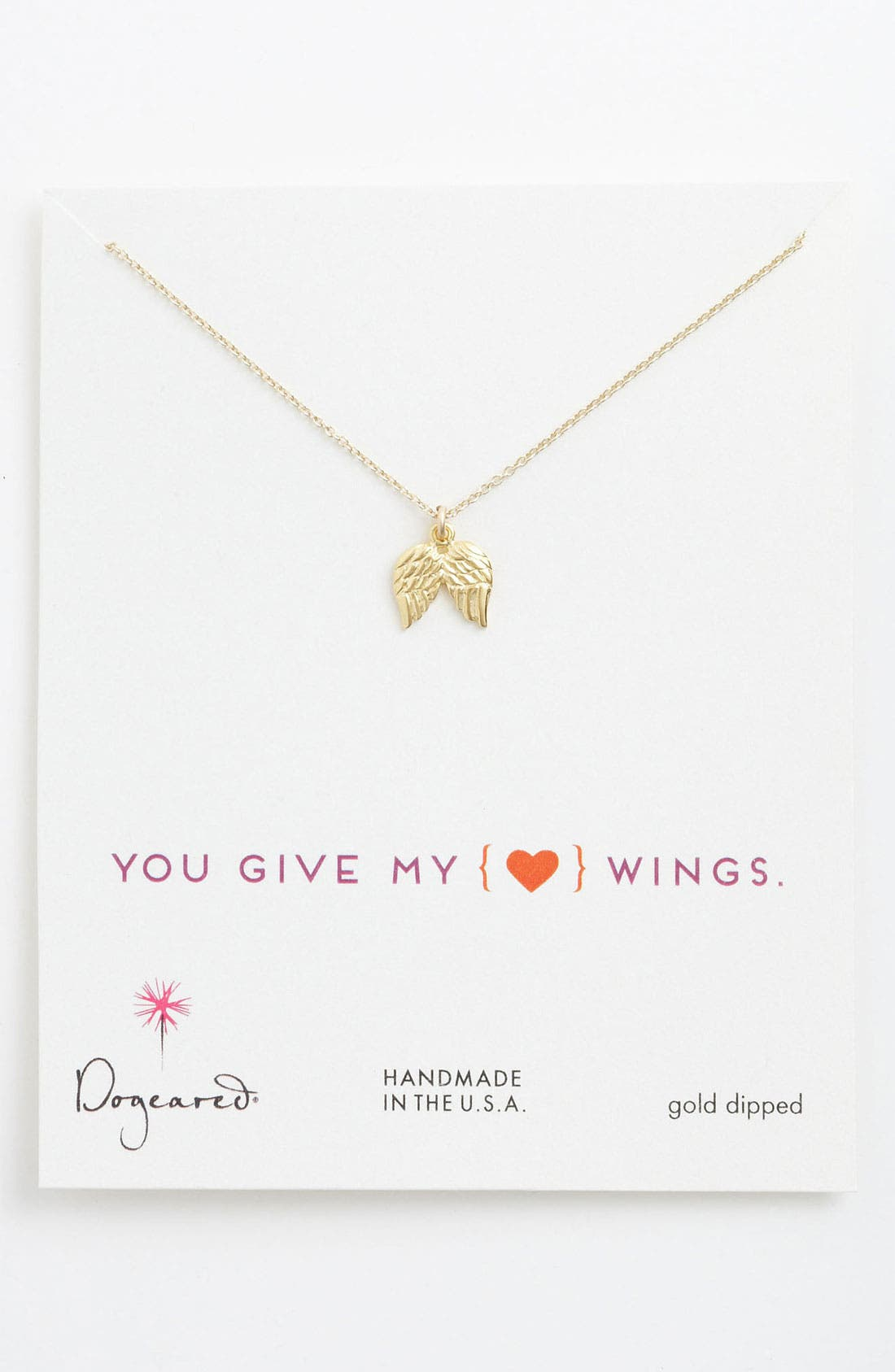 Alternate Image 1 Selected - Dogeared Angel Wings Pendant Necklace