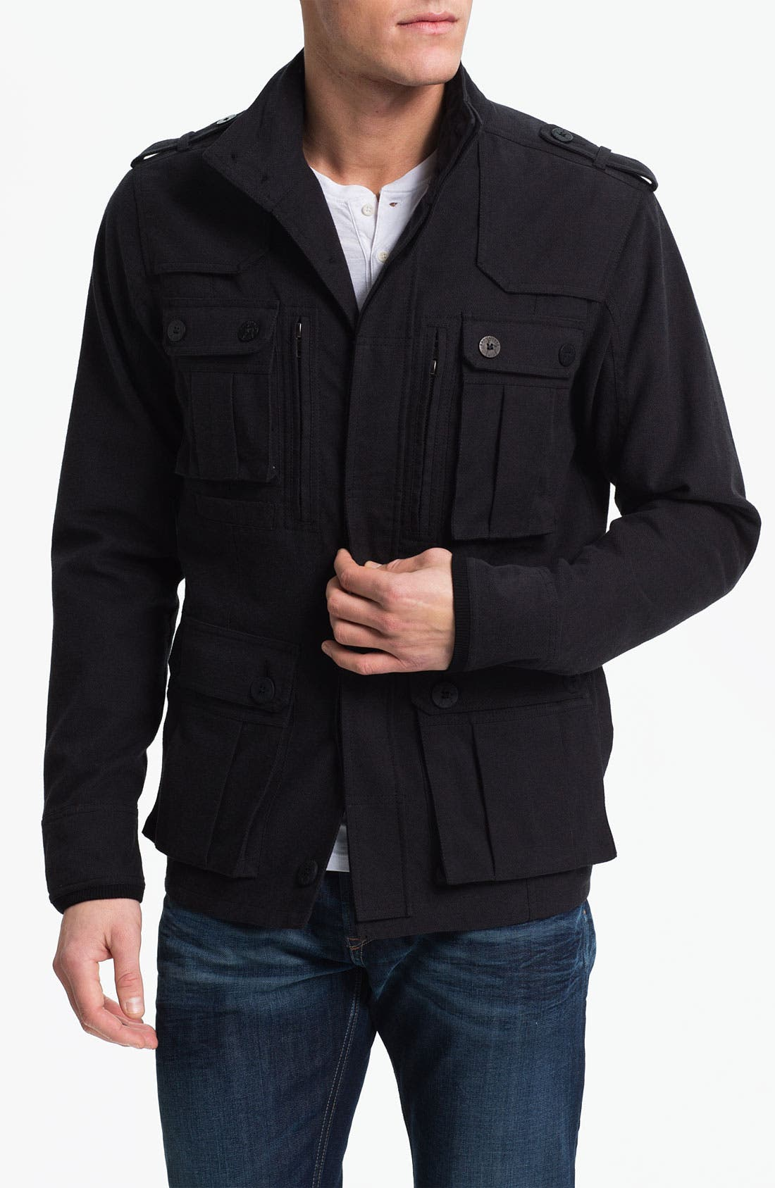 Alternate Image 1 Selected - Kane & Unke Cotton Twill Field Jacket