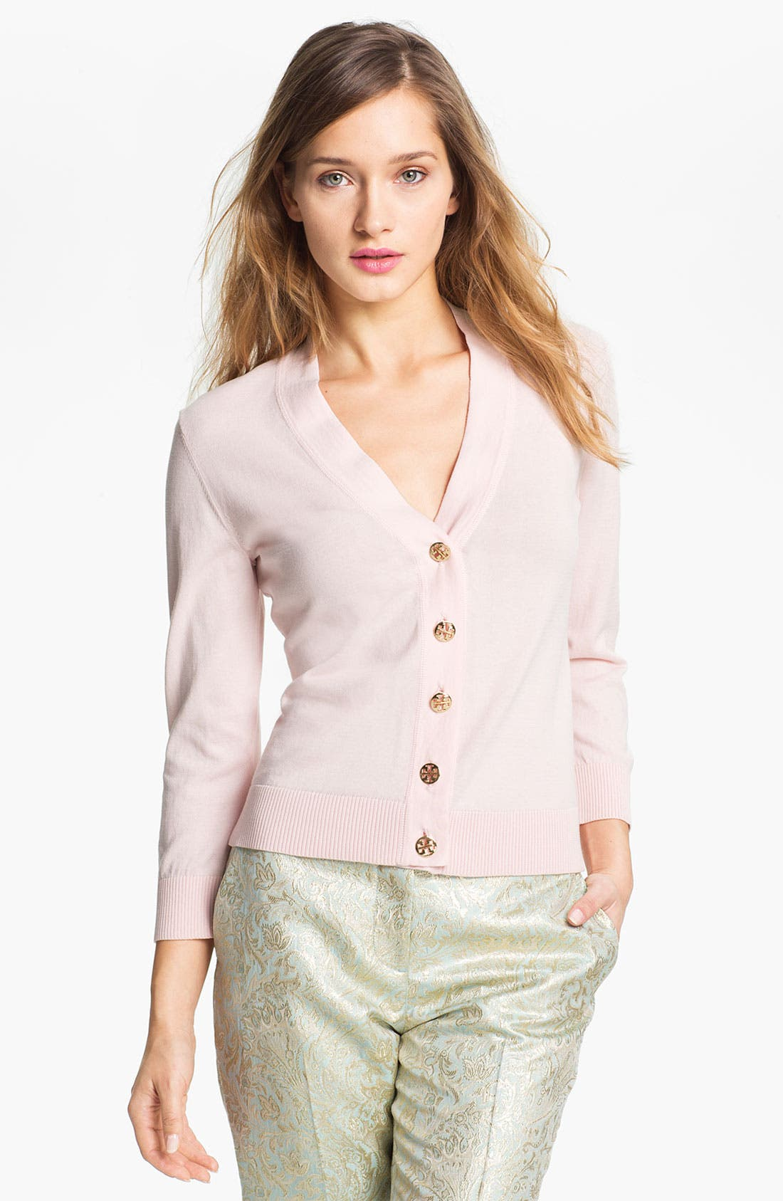 Alternate Image 1 Selected - Tory Burch 'Simone' Shrunken Cardigan
