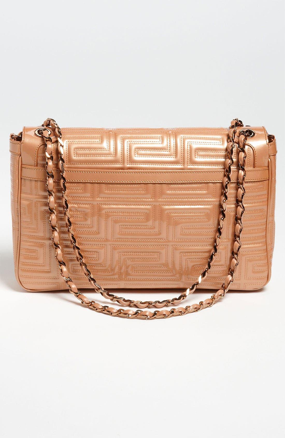Alternate Image 4  - Versace 'Large' Patent Leather Shoulder Bag