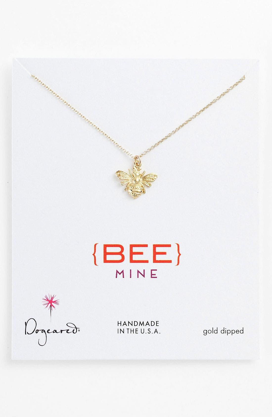 Alternate Image 1 Selected - Dogeared 'Create - Bee Mine' Pendant Necklace