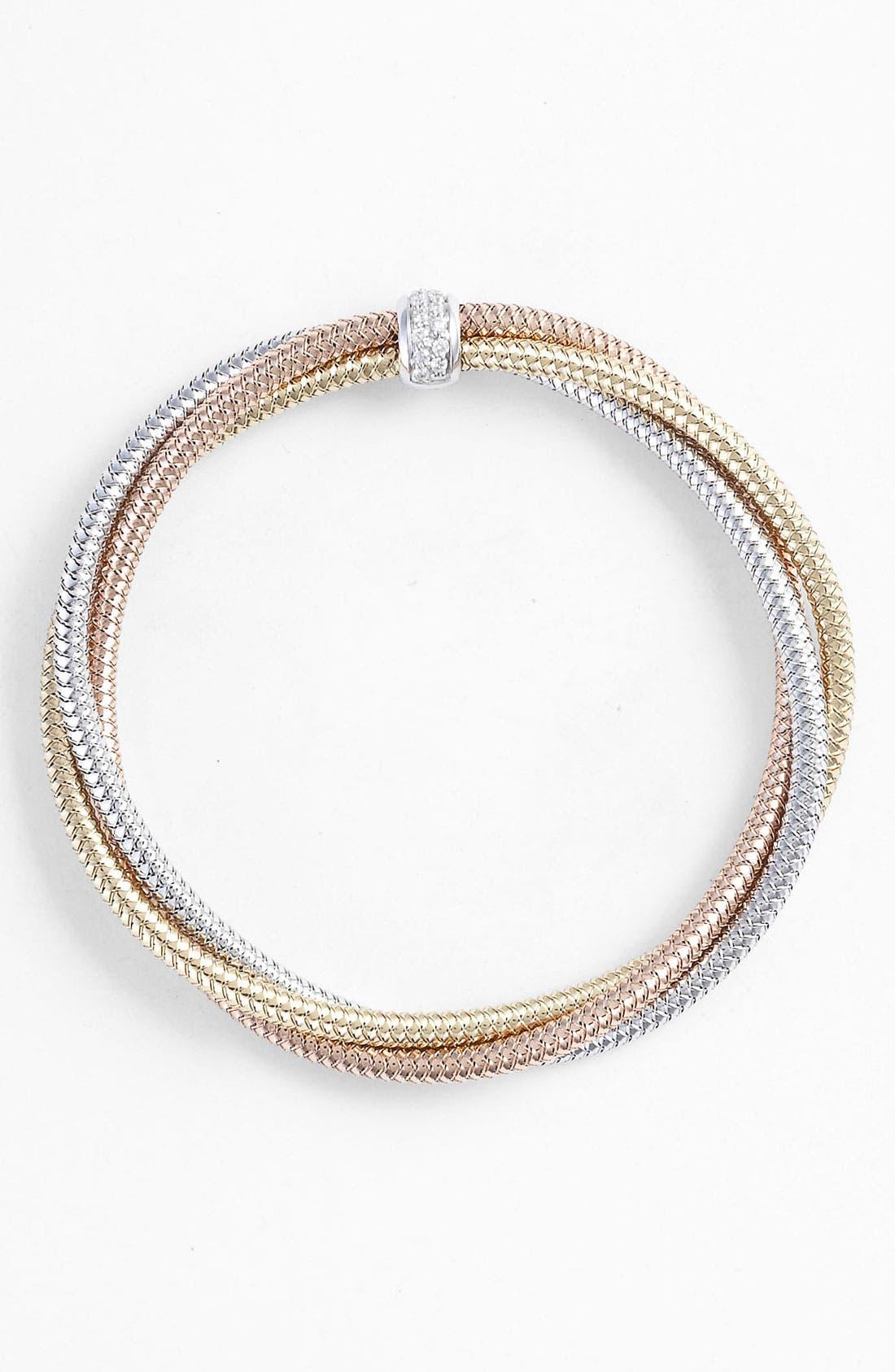 Alternate Image 1 Selected - Roberto Coin 'Mini Primavera' Triple Strand Diamond Bracelet