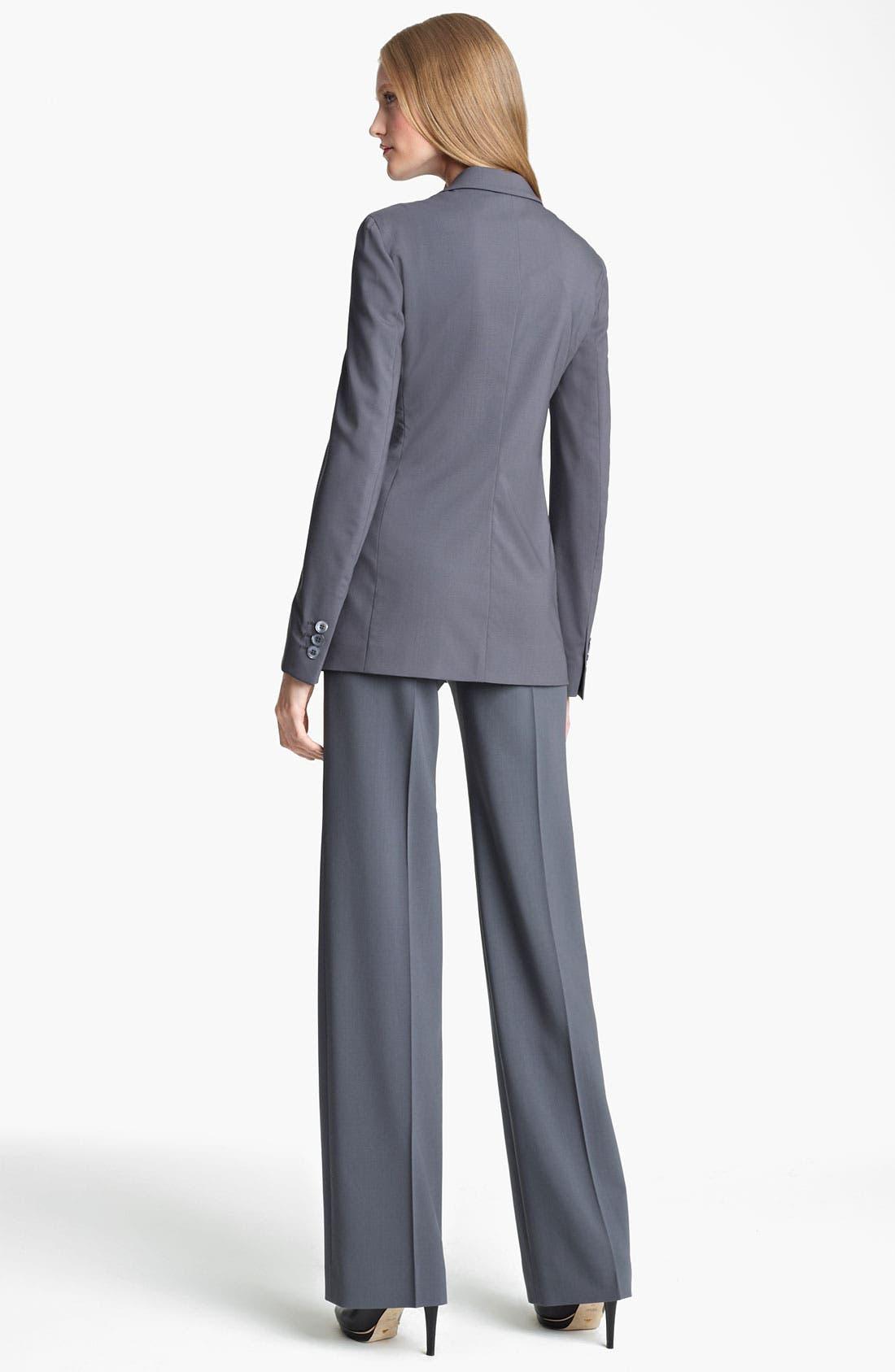 Alternate Image 3  - Armani Collezioni Stretch Wool Pants