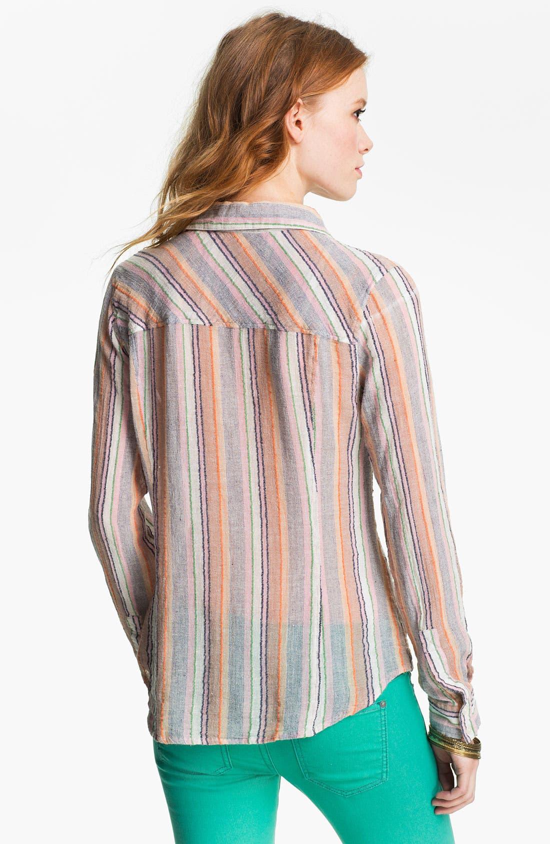 Alternate Image 2  - Free People 'Midwest' Stripe Shirt
