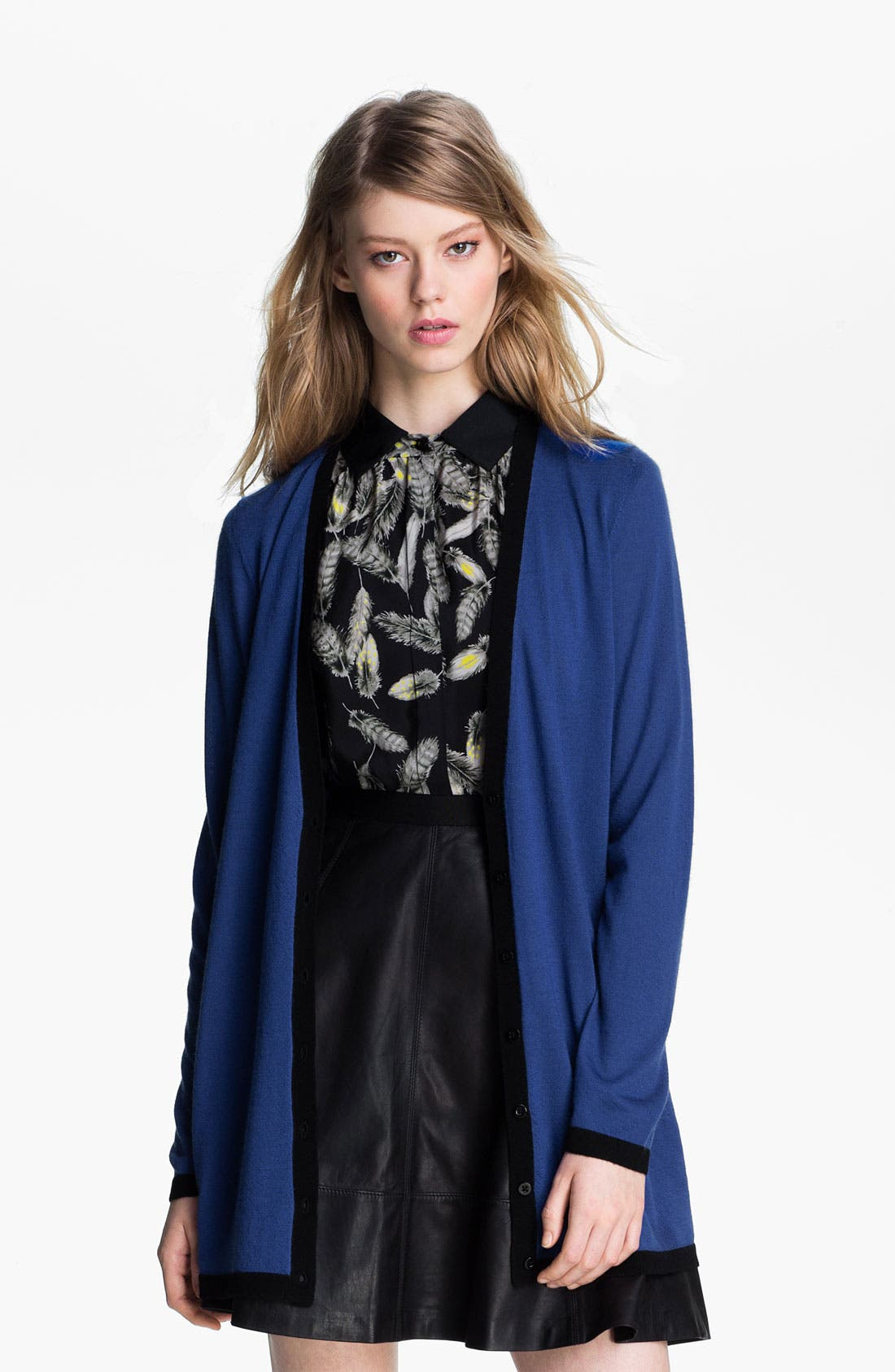 Alternate Image 2  - Miss Wu 'Sofie' Color Tipped Cashmere Cardigan (Nordstrom Exclusive)