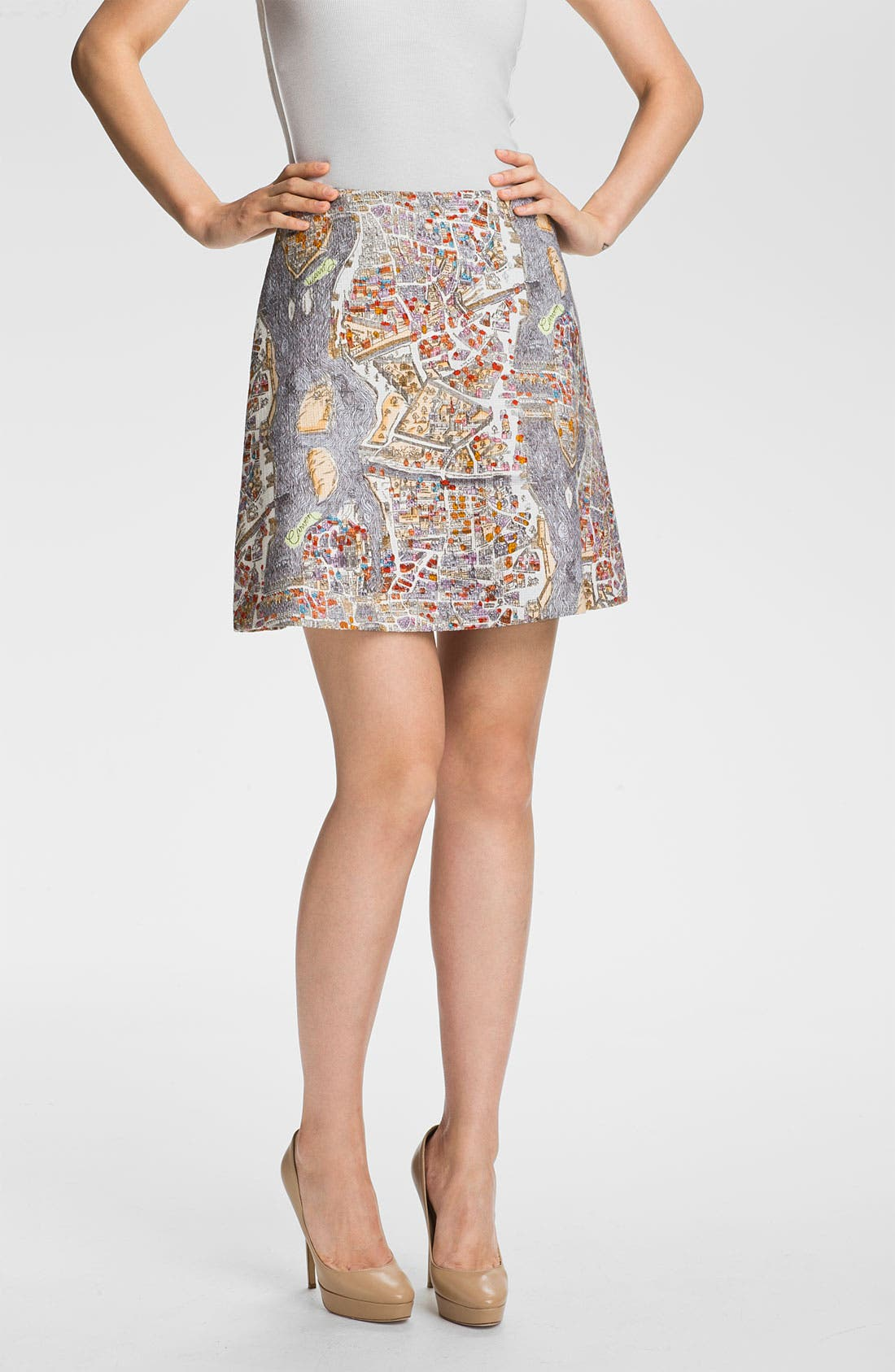 Main Image - Carven Print Skirt