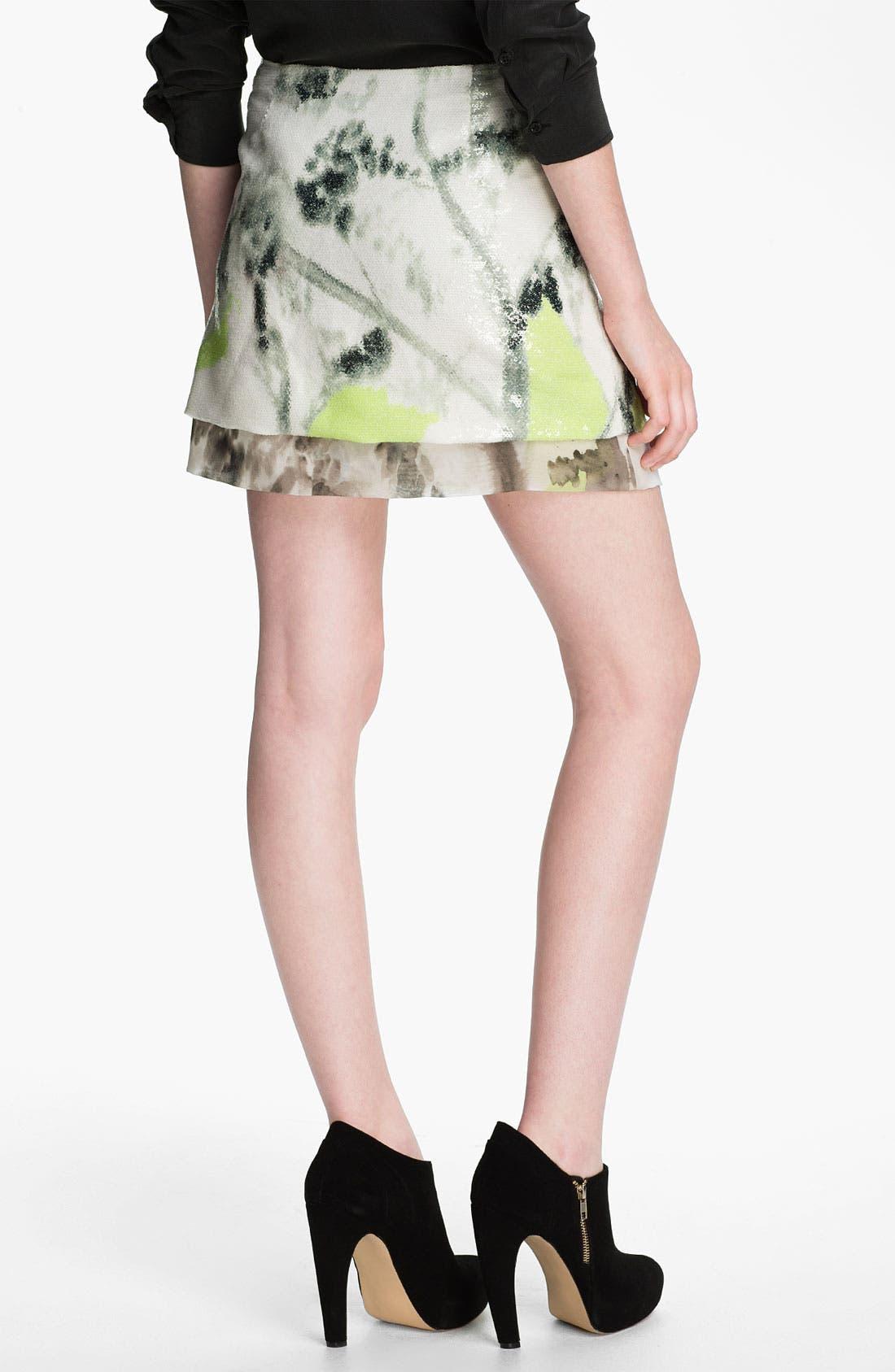 Alternate Image 2  - Diane von Furstenberg 'Elley' Sequin Print Miniskirt