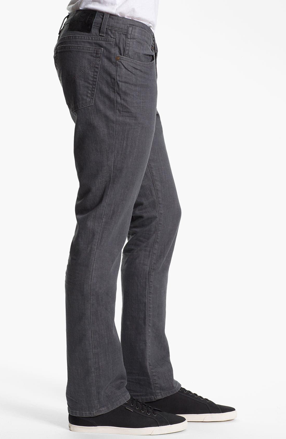 Alternate Image 3  - John Varvatos Star USA 'Bowery' Slim Straight Leg Jeans (Steel Grey)
