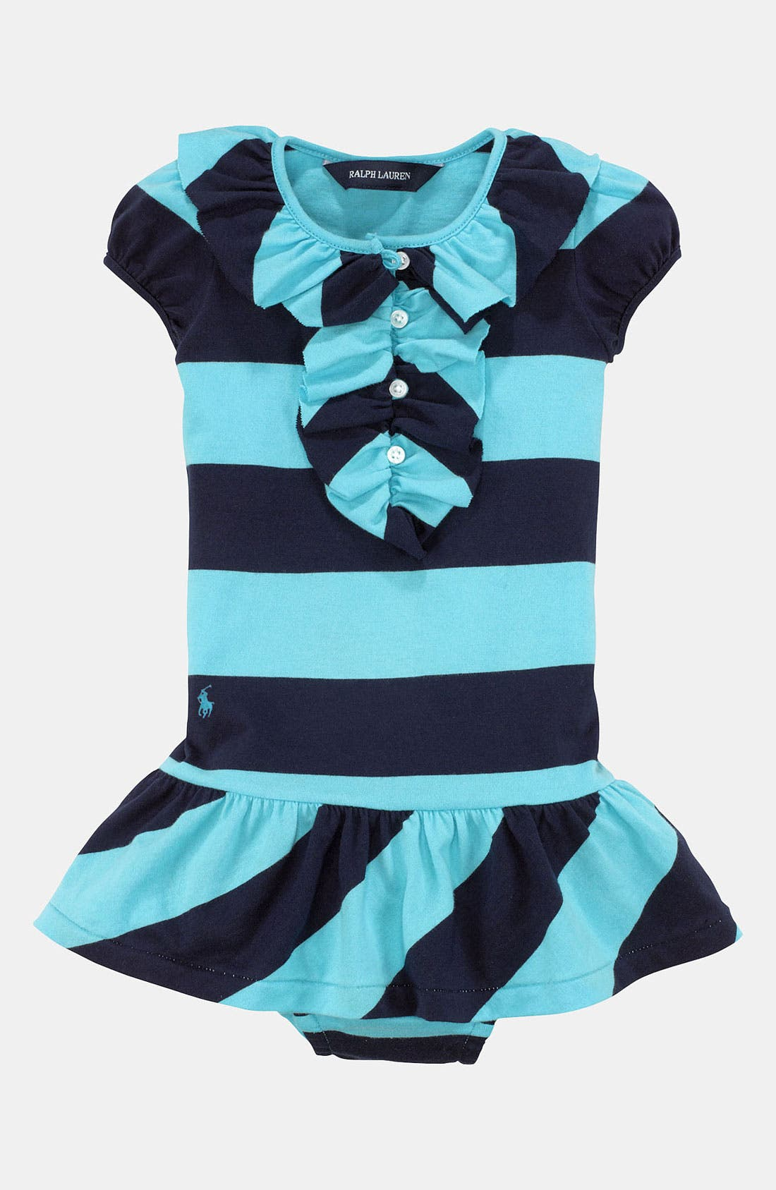 Main Image - Ralph Lauren Stripe Dress & Bloomers (Infant)