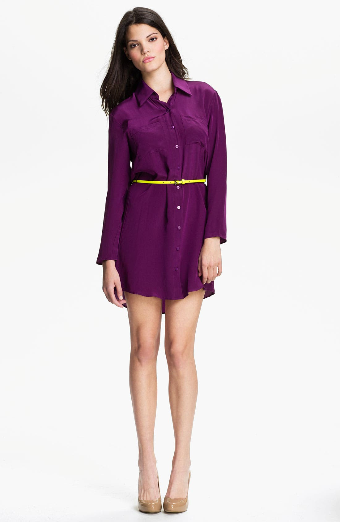 Alternate Image 1 Selected - Eight Sixty Belted Shirtdress