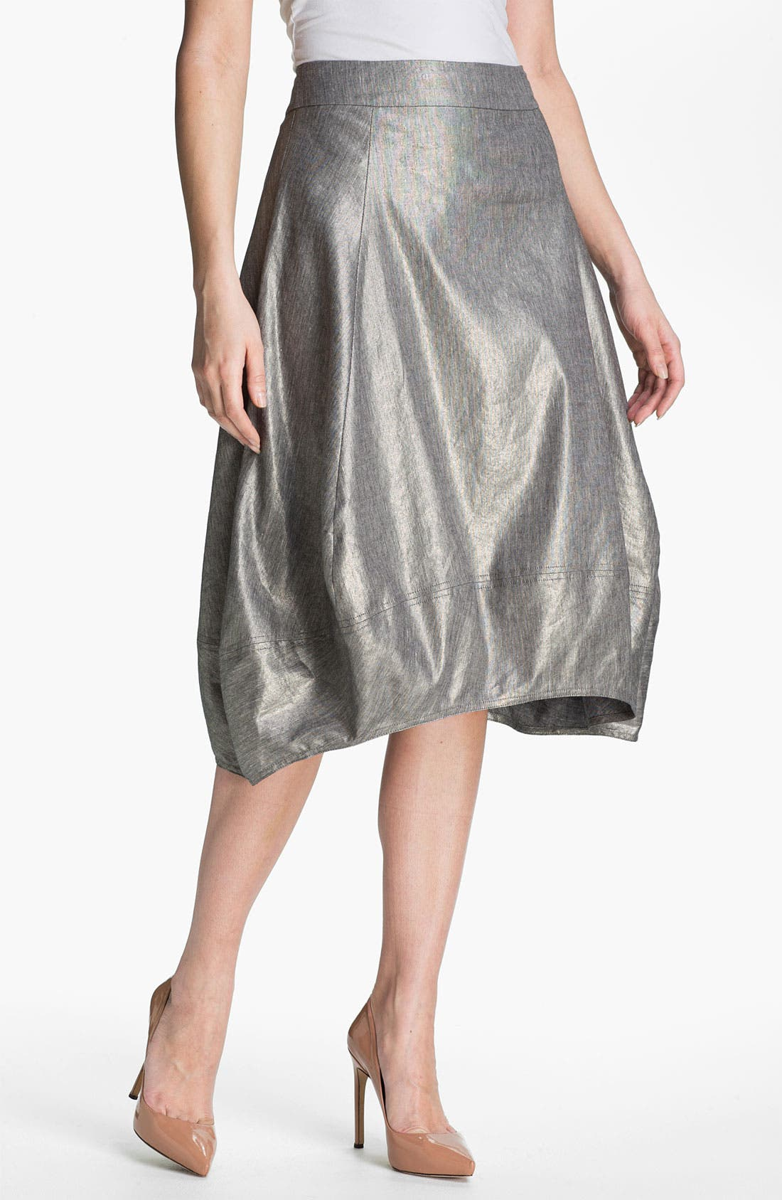 Alternate Image 1 Selected - Eileen Fisher Stretch Linen Blend Lantern Skirt