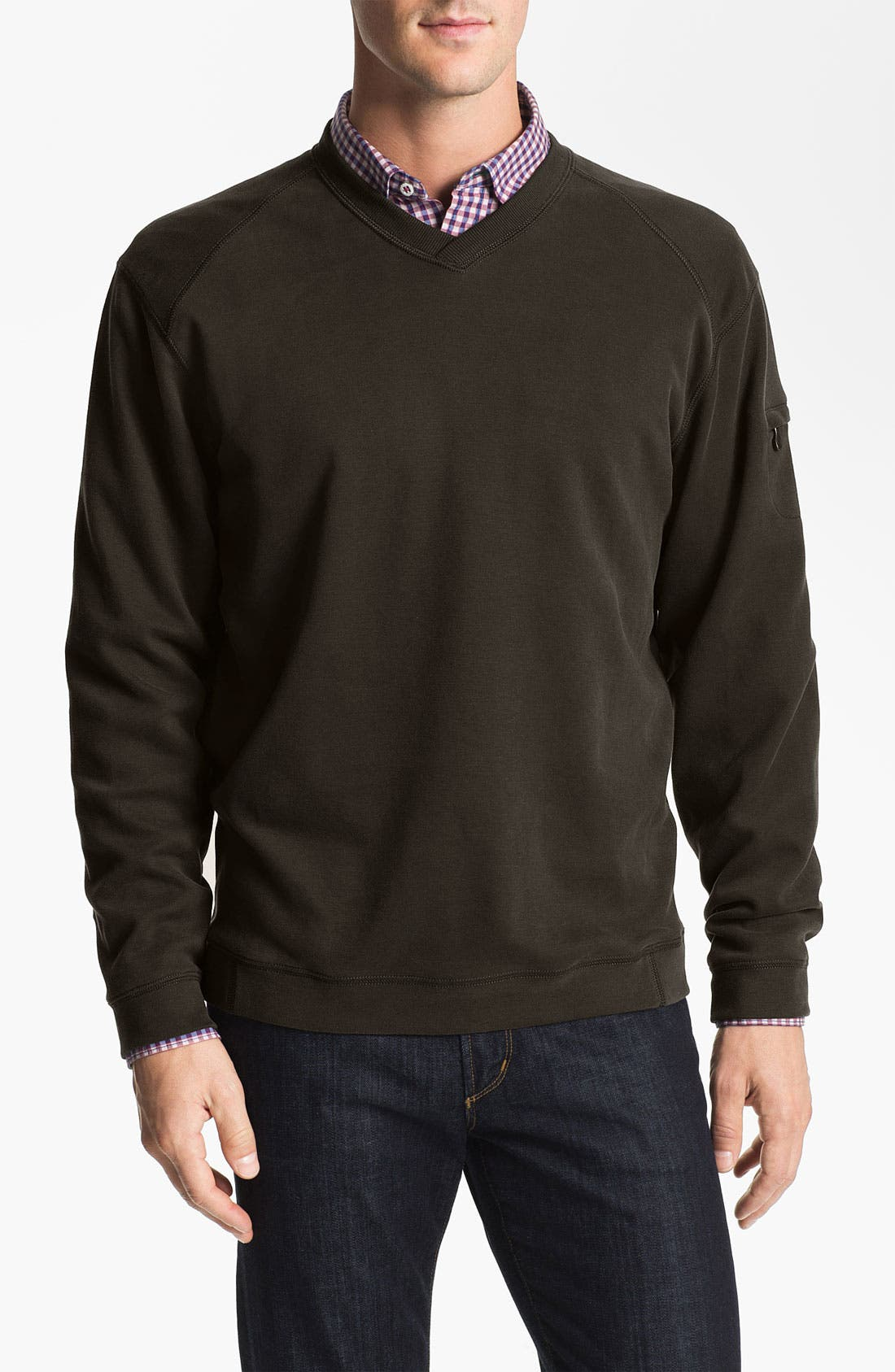 Alternate Image 1 Selected - Tommy Bahama 'New Palisuede' V-Neck Pullover