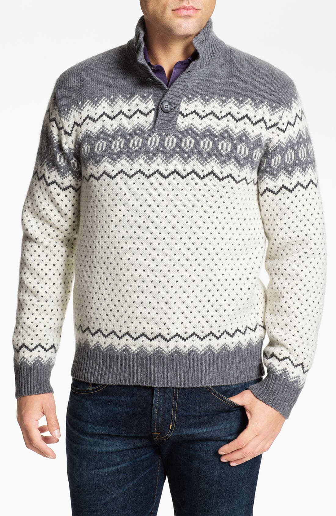 Main Image - Fiesole Mock Neck Wool Blend Sweater