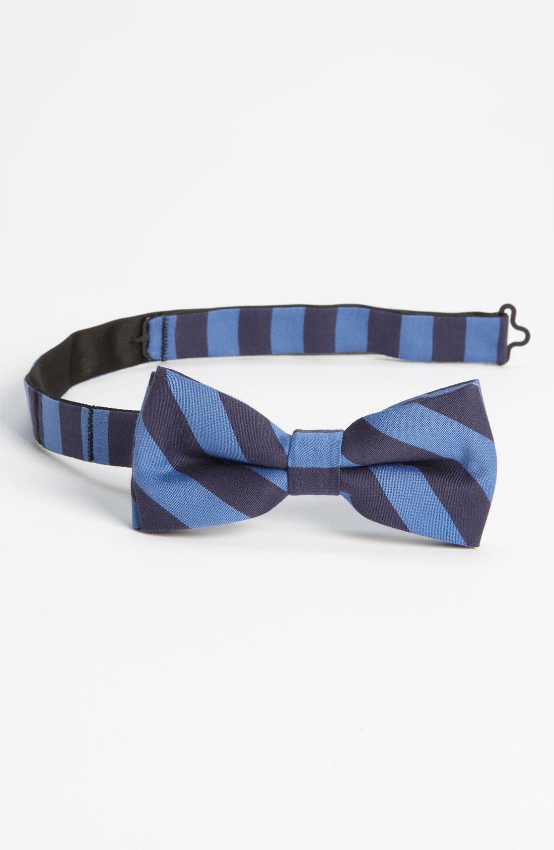 Main Image - 1901 Stripe Bow Tie