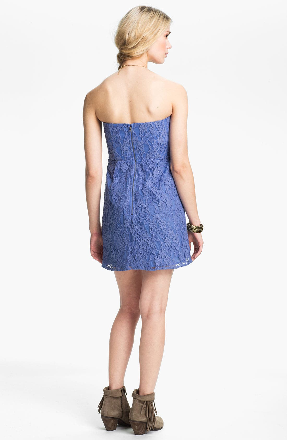 Alternate Image 2  - Free People 'Heart' Strapless Lace Dress