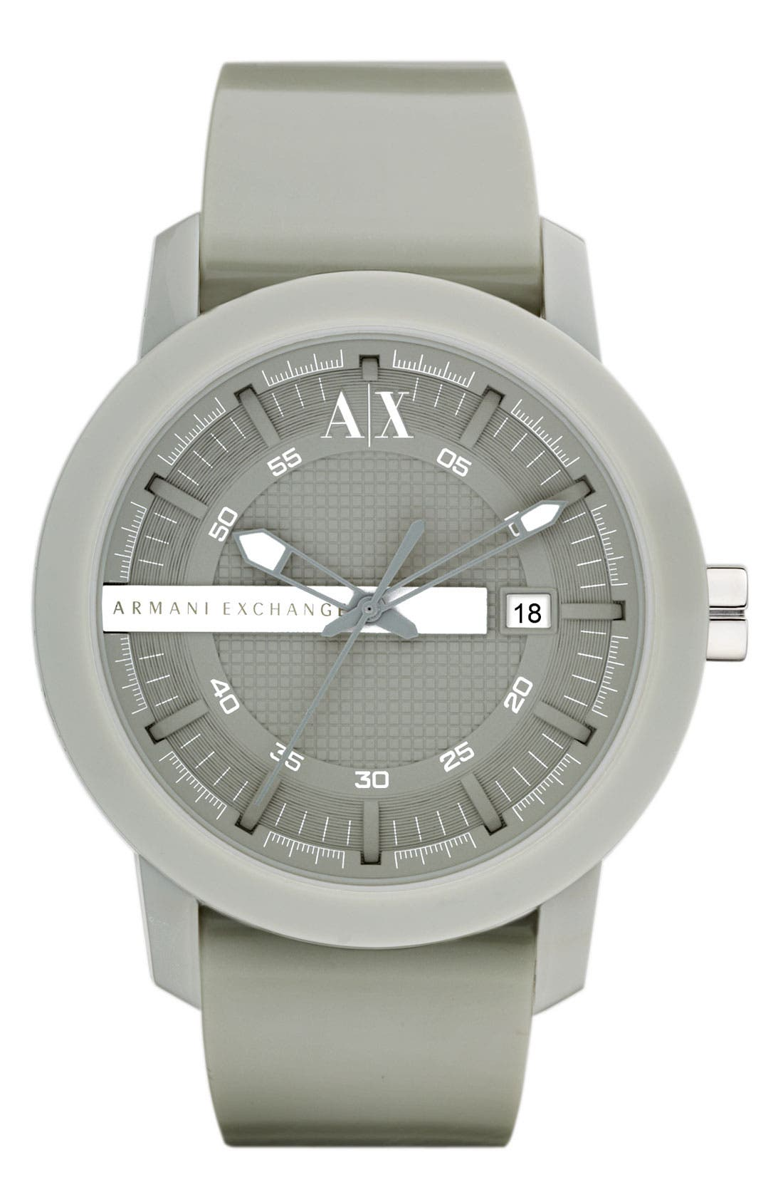 Alternate Image 1 Selected - AX Armani Exchange Rubber Strap Watch, 44mm
