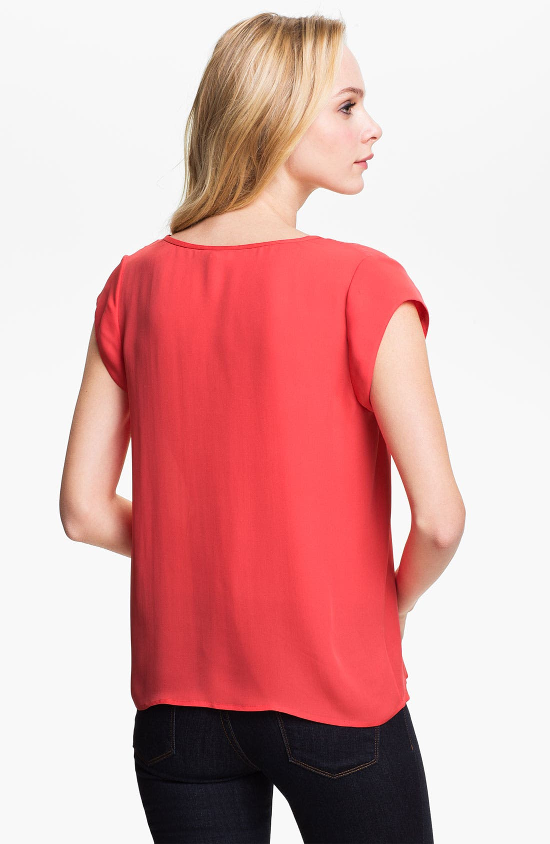 Alternate Image 2  - Joie 'Siegal' Split Neck Silk Top