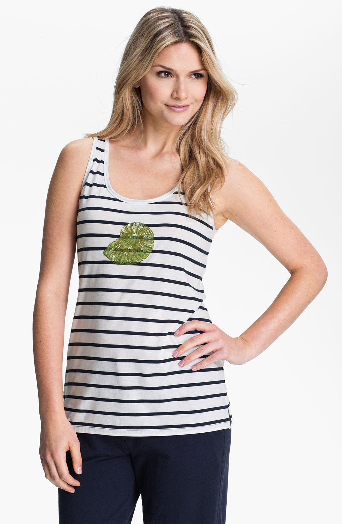 Alternate Image 1 Selected - Tommy Bahama 'Ocean Shell' Stripe Tank
