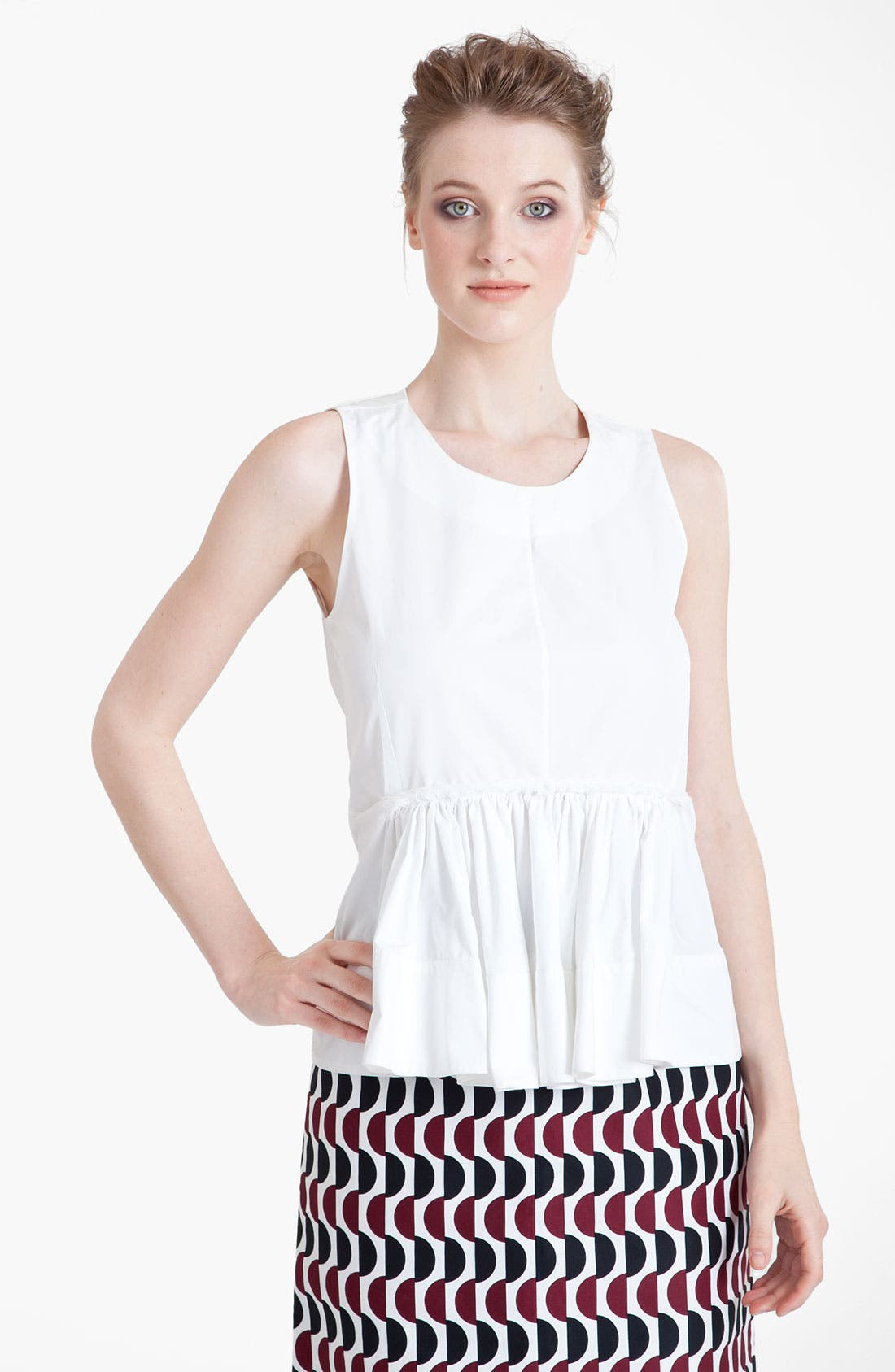 Main Image - Marni Pleated Poplin Top