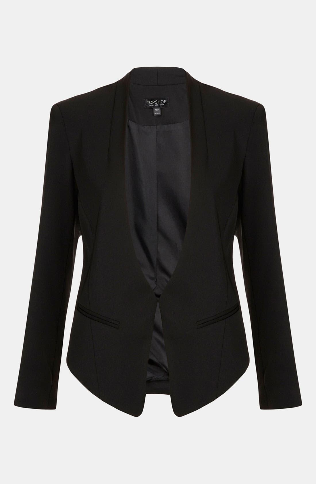 Alternate Image 1 Selected - Topshop Angled Blazer