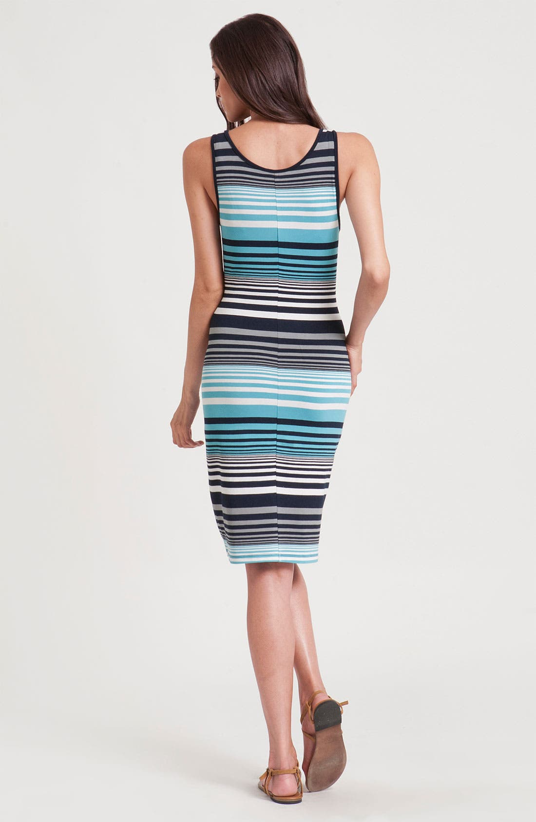 Alternate Image 2  - Three Dots Stripe Tank Dress