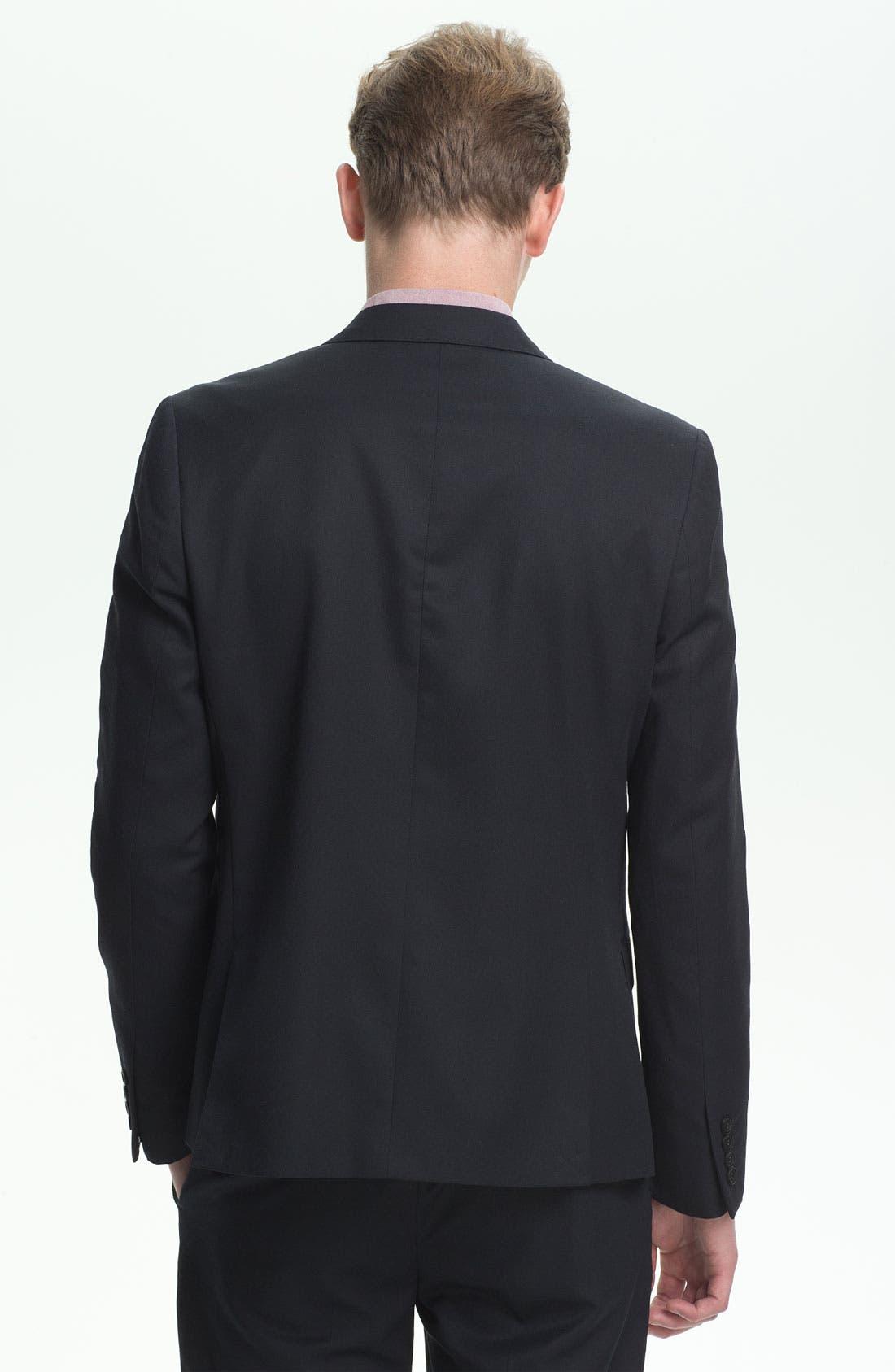 Alternate Image 2  - Topman Skinny Peak Lapel Blazer