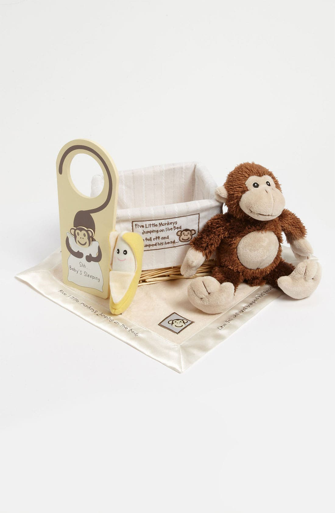 Alternate Image 1 Selected - Baby Aspen 'Five Little Monkeys' Five-Piece Gift Set