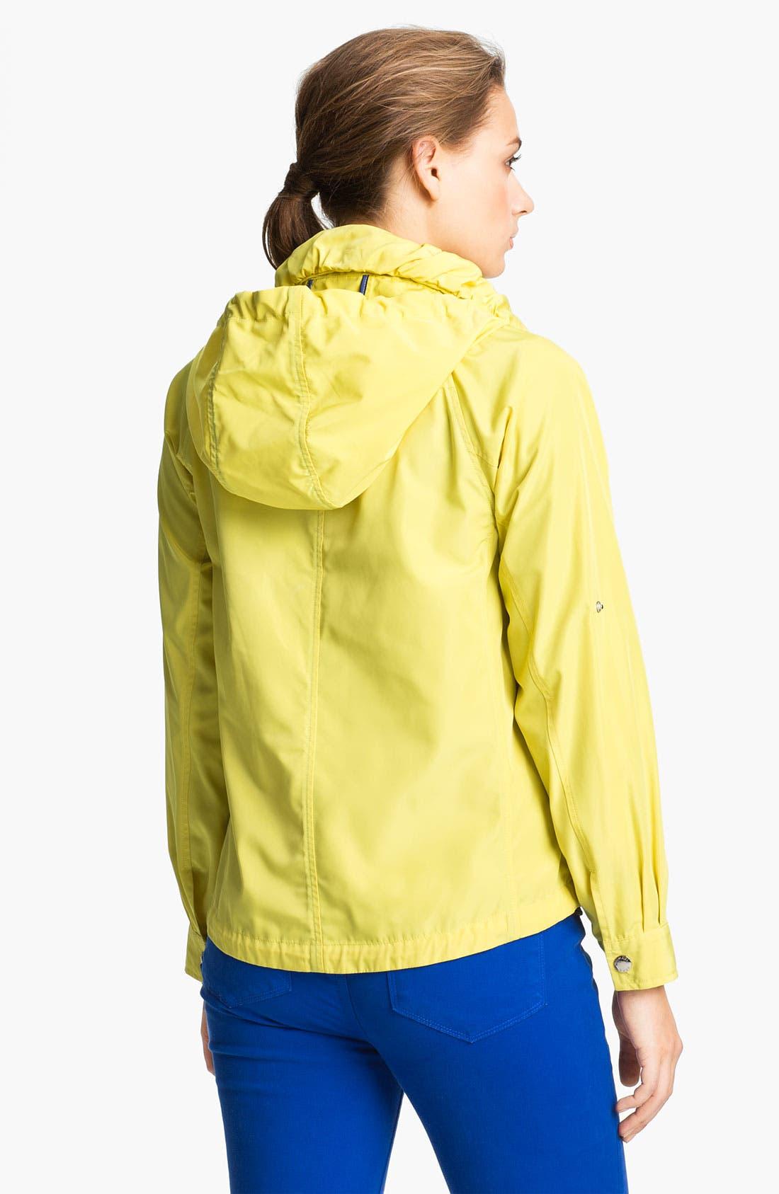 Alternate Image 2  - MICHAEL Michael Kors Hooded Roll Sleeve Jacket (Regular & Petite)