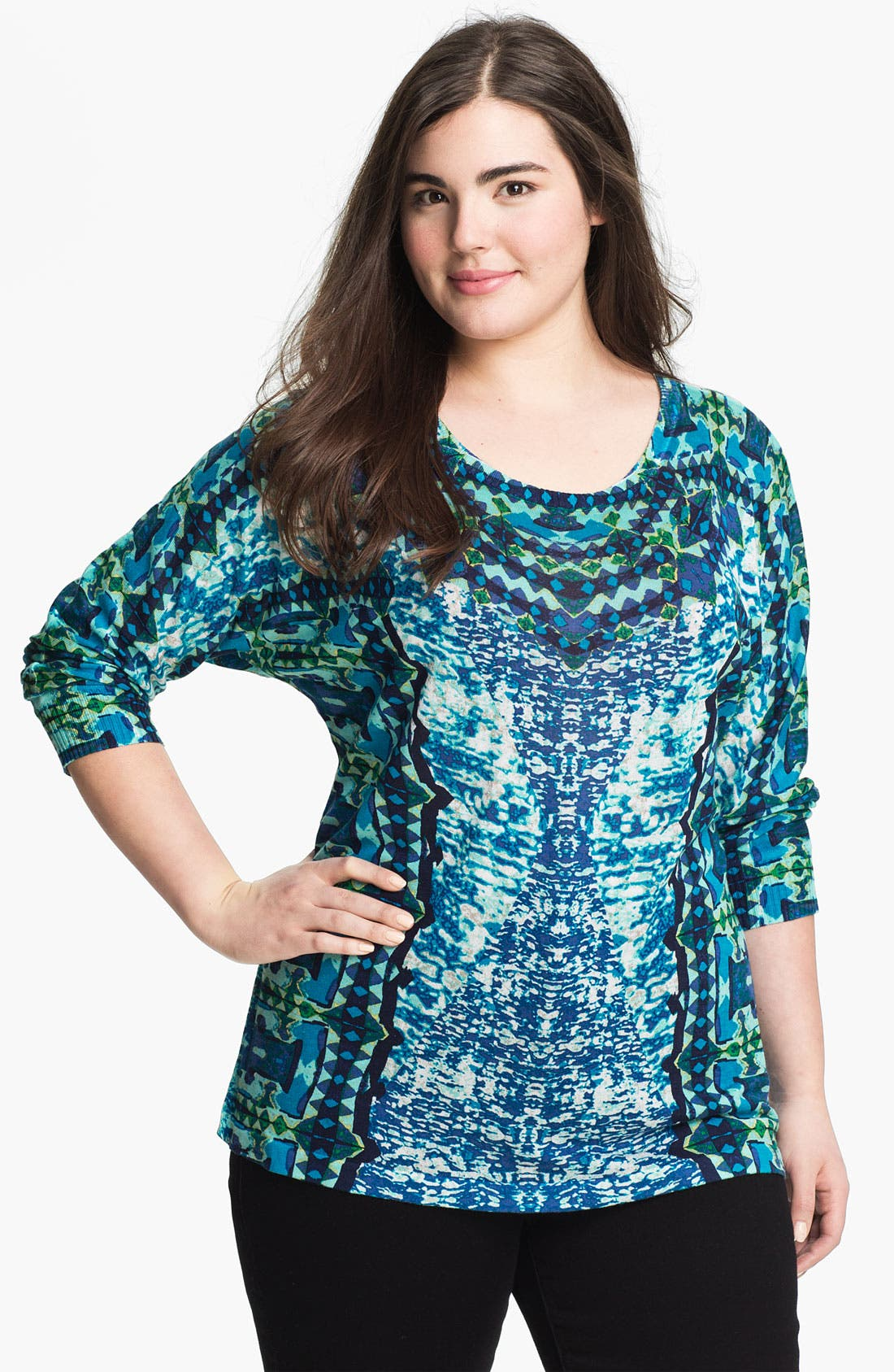 Main Image - Nic + Zoe 'Reflections' Print Top (Plus)