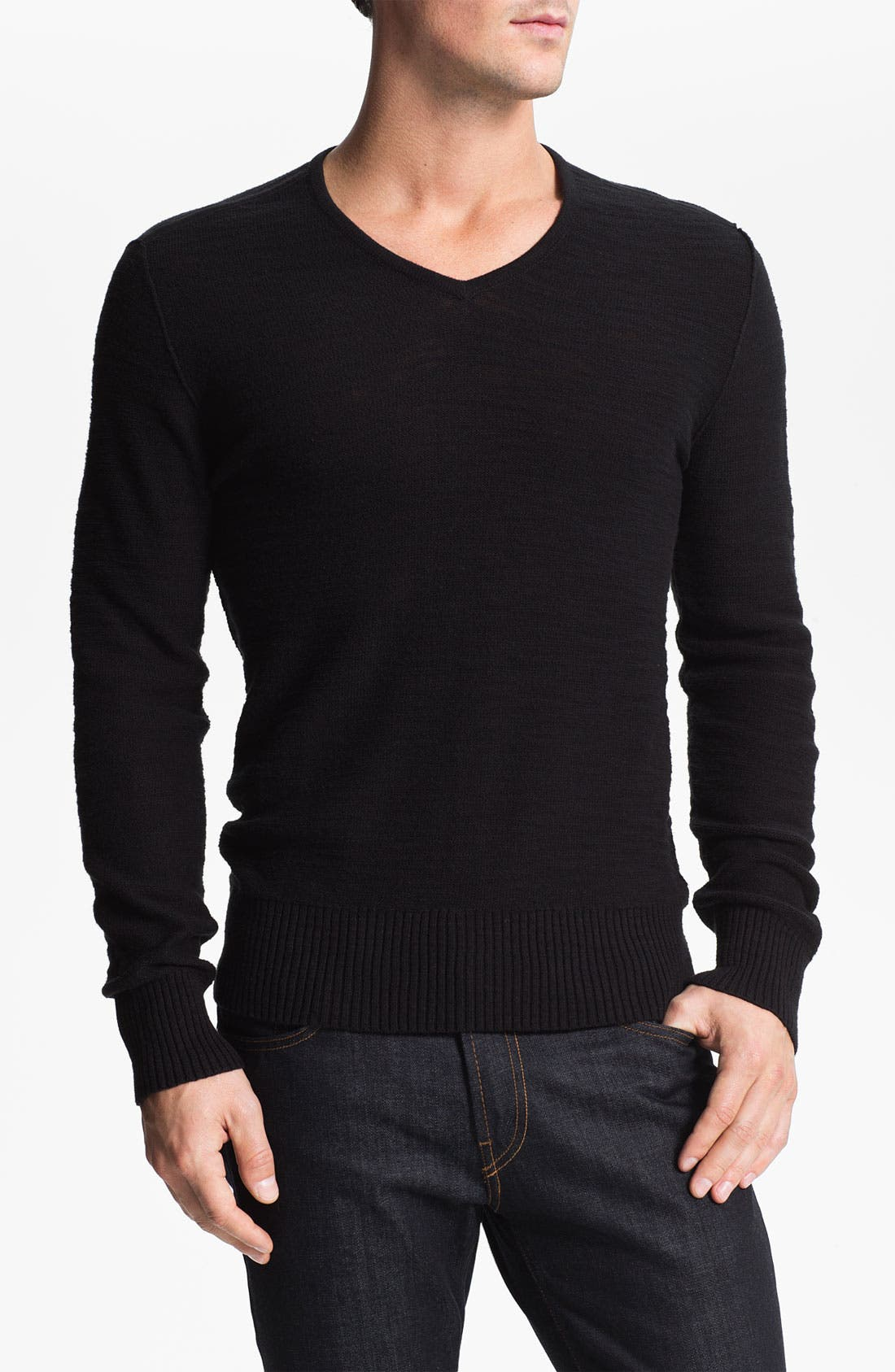 Alternate Image 1 Selected - John Varvatos Star USA V-Neck Sweater