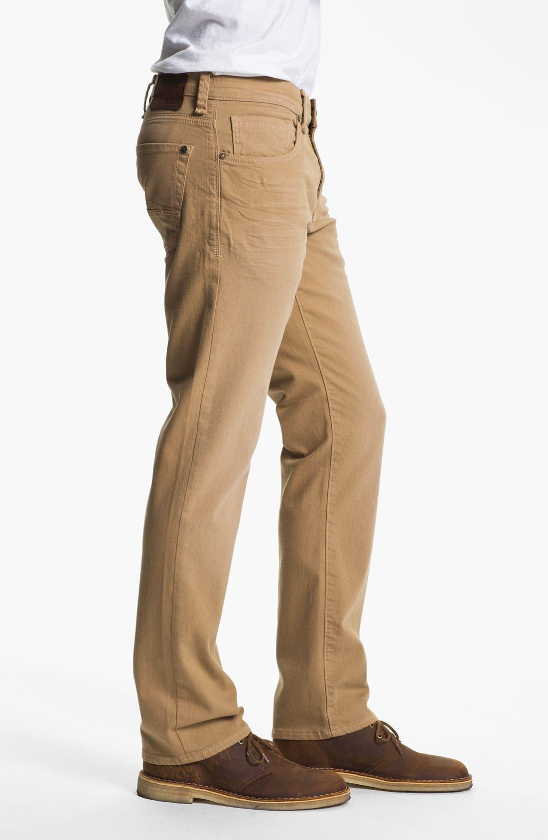 Alternate Image 3  - Mavi 'Zach' Straight Leg Jeans (Sand)