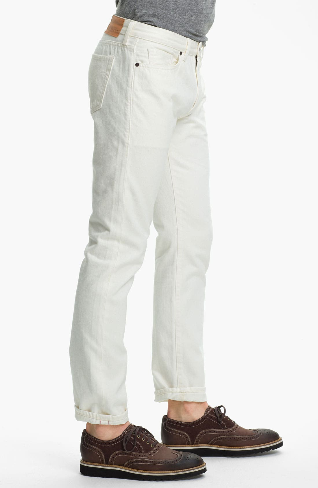 Alternate Image 3  - Levi's® Made & Crafted™ Slim Fit Jeans (White)