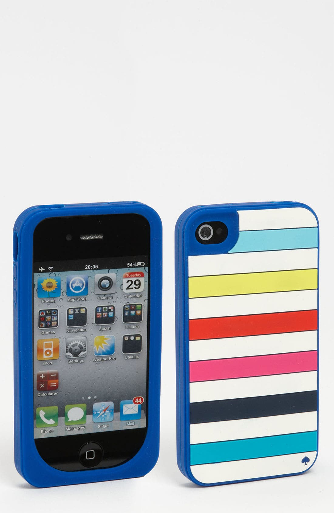 'candy stripe' iPhone 4 & 4S case,                         Main,                         color, Yves Blue Multi