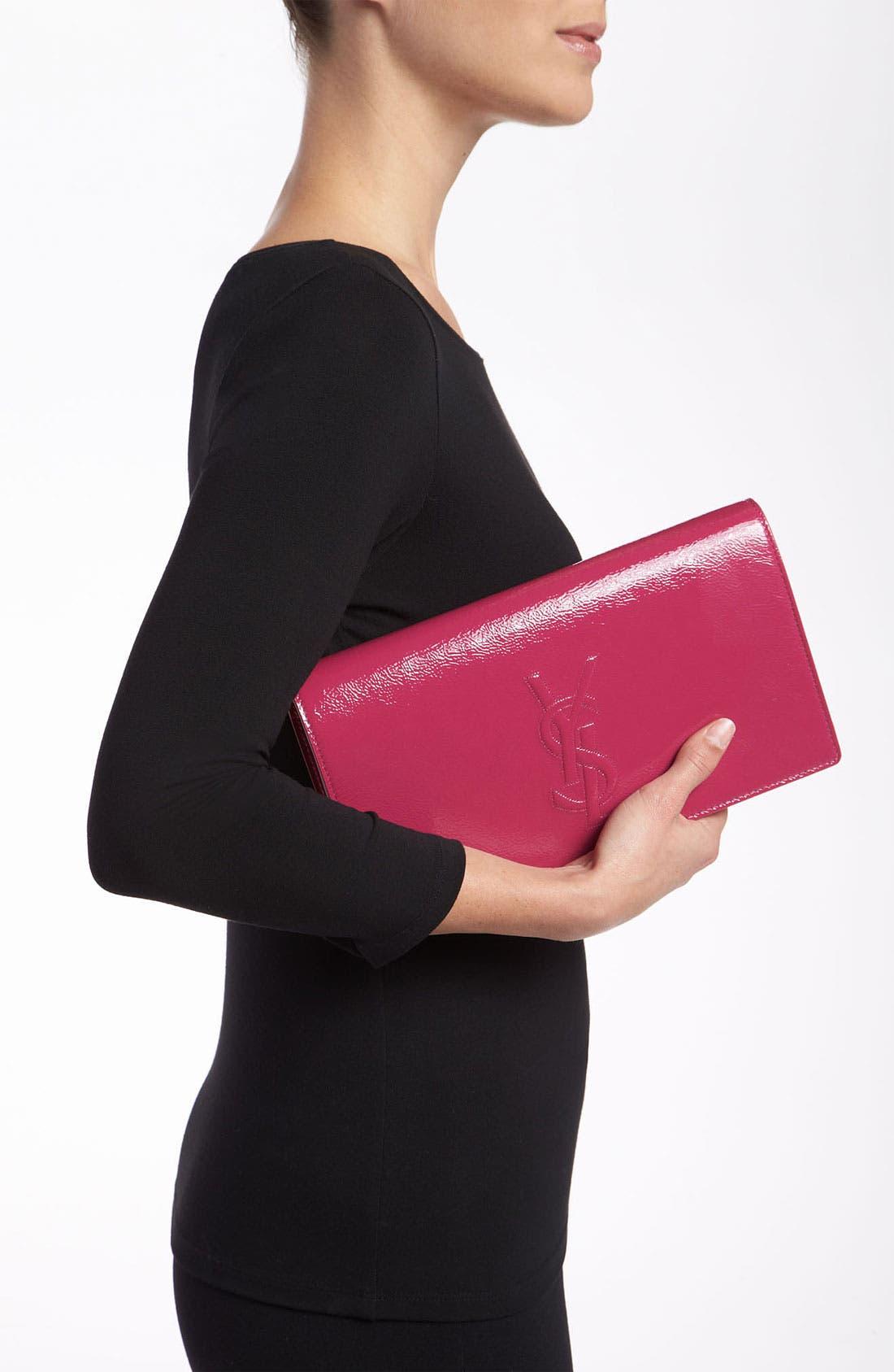 Alternate Image 2  - Saint Laurent 'Belle de Jour' Patent Leather Clutch