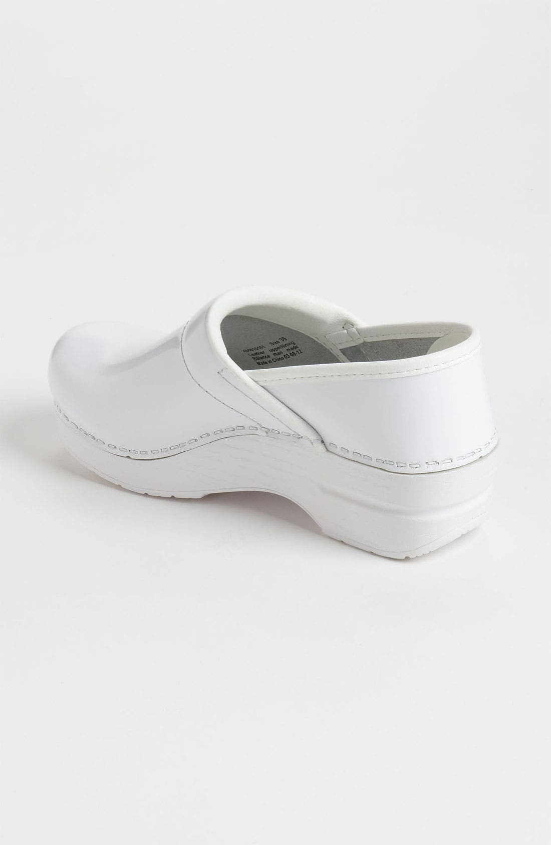 'Professional' Clog,                             Alternate thumbnail 2, color,                             White Patent