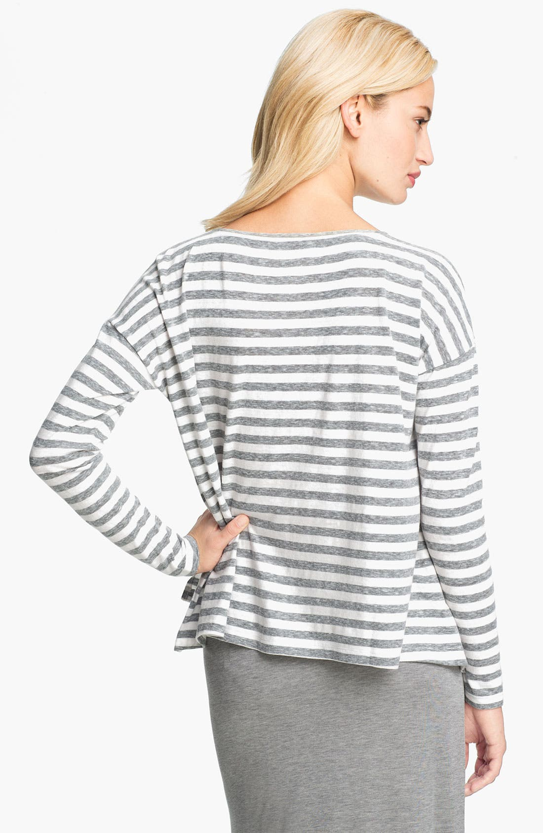 Alternate Image 2  - Eileen Fisher Mélange Slub Stripe Top