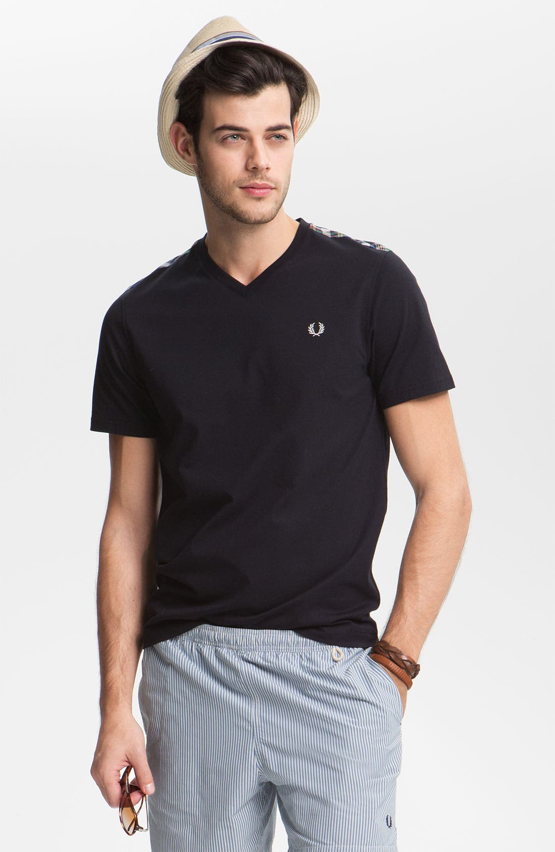 Main Image - Fred Perry V-Neck T-Shirt