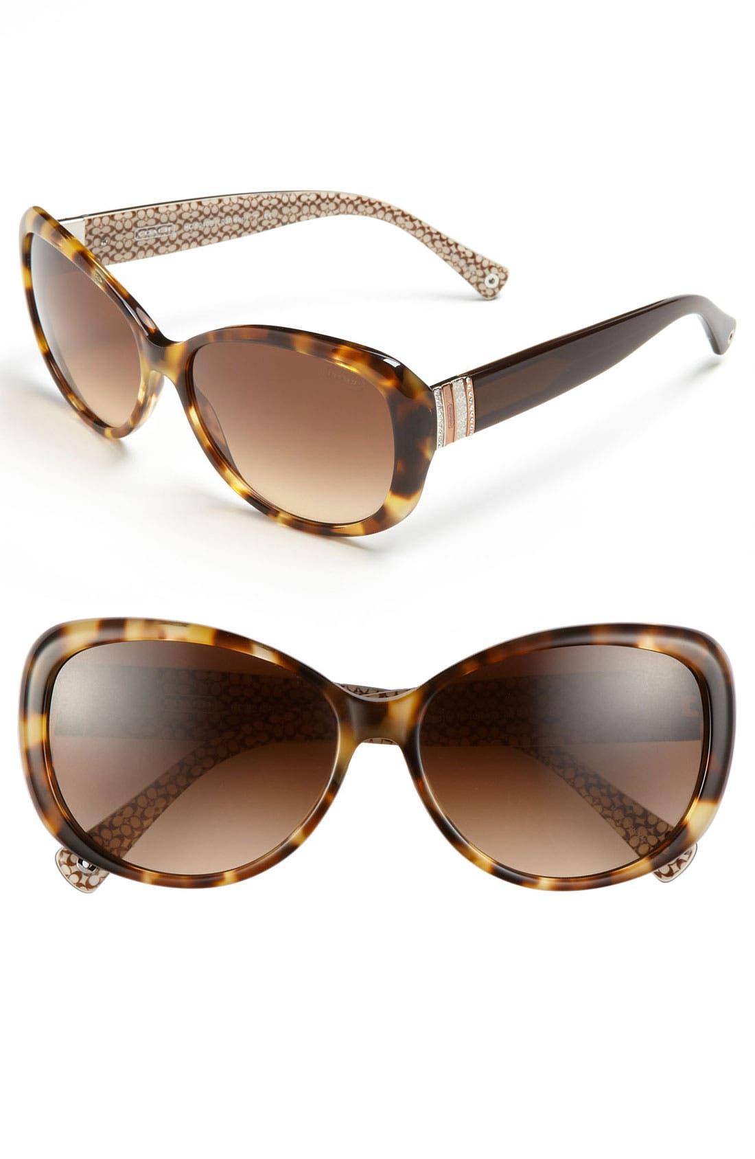 Alternate Image 1 Selected - COACH 58mm Oversized Sunglasses