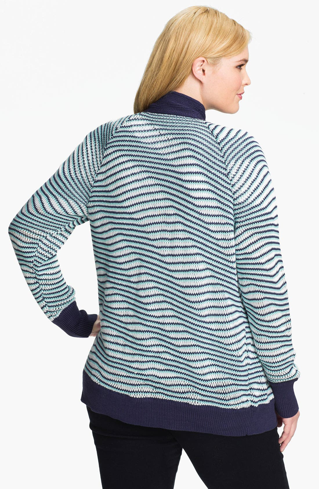Alternate Image 2  - Sejour Textured Cardigan (Plus)