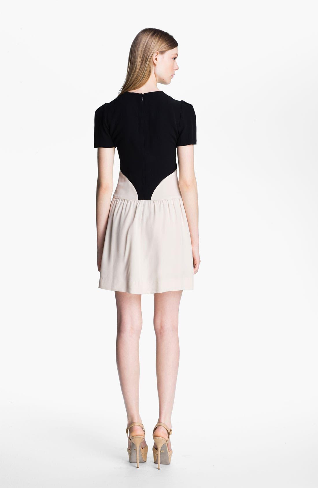 Alternate Image 2  - Victoria, Victoria Beckham Satin Backed Crepe Dress