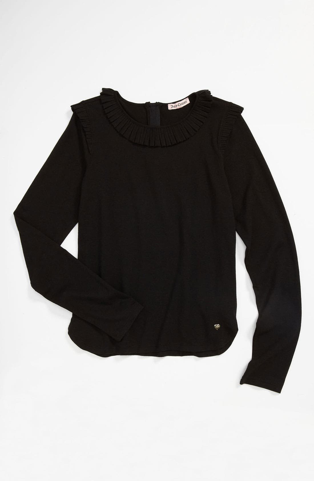 Main Image - Juicy Couture Ruffle Pleat Top (Little Girls & Big Girls)