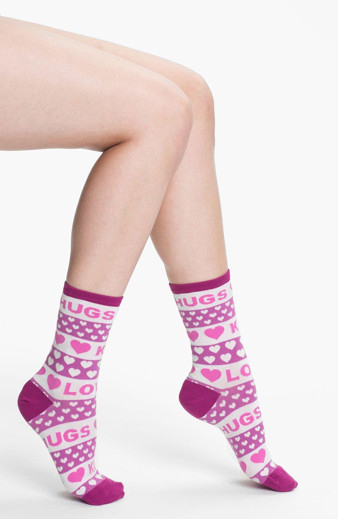 Alternate Image 1 Selected - Hot Sox 'Hugs & Kisses' Socks