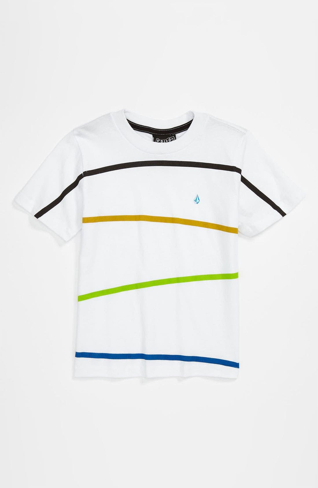 Alternate Image 1 Selected - Volcom Stripe T-Shirt (Toddler)